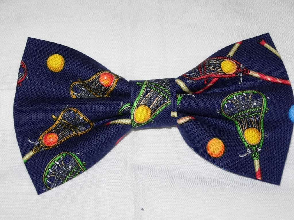 a29882239378 Lacrosse Bow tie / Lacrosse Sticks on Navy Blue / Pre-tied Bow tie – Bow Tie  Expressions