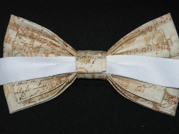 Poetry in Music Bow Tie / Vintage Music & Golden Instruments / Pre-tied Bow tie - Bow Tie Expressions
