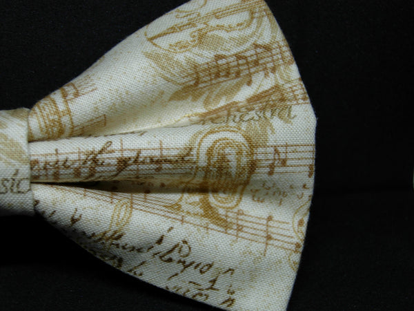 Poetry in Music Bow Tie / Vintage Music & Golden Instruments / Self-tie & Pre-tied Bow tie - Bow Tie Expressions