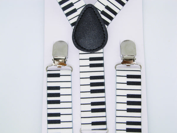Piano Keys Suspenders - Boys Suspenders - Ages 6mo. - 6yrs. - Bow Tie Expressions