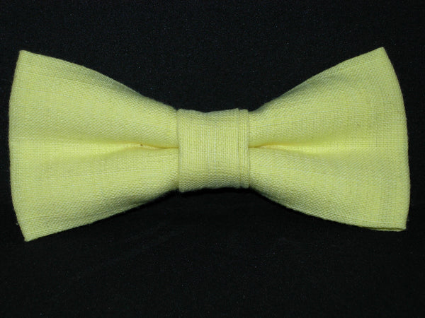 Linen Bow Tie & Suspender Set - Orange, Turquoise & Lemon Yellow - Boys Black Suspenders - Ages 6mo. - 6yrs.