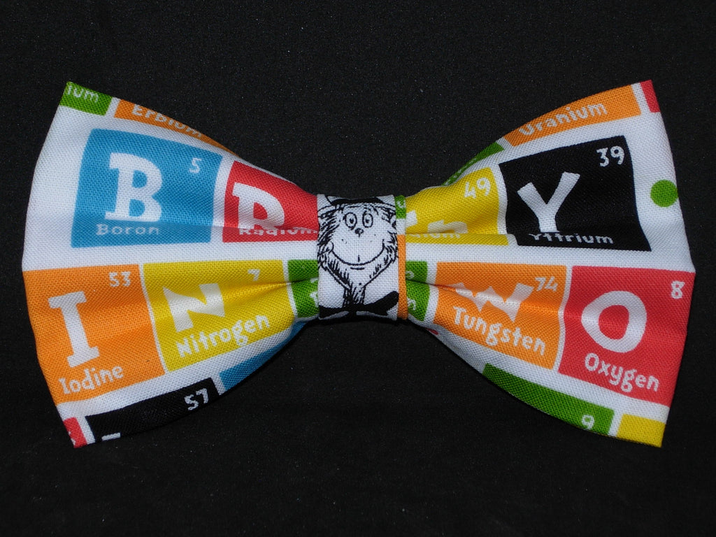 Dr. Seuss Bow Tie / Fun Words with the Periodic Table / Pre-tied Bow tie