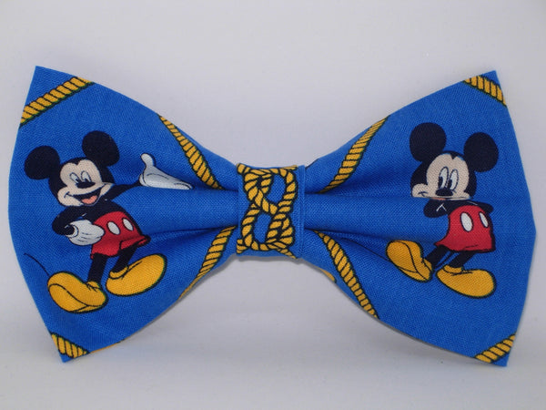 Mickey Mouse Bow tie / Mickey & Ropes on Blue / Disney Party / Self-tie & Pre-tied Bow tie