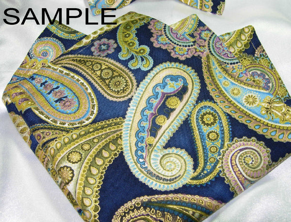 Create Your Own Pocket Square - Double Sided or Reversible - 2 Sizes! - Bow Tie Expressions  - 3