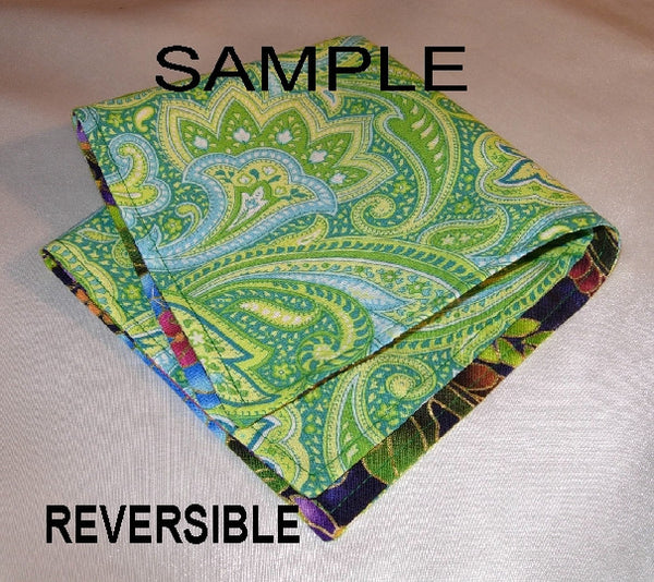 Create Your Own Pocket Square - Double Sided or Reversible - 2 Sizes! - Bow Tie Expressions  - 5