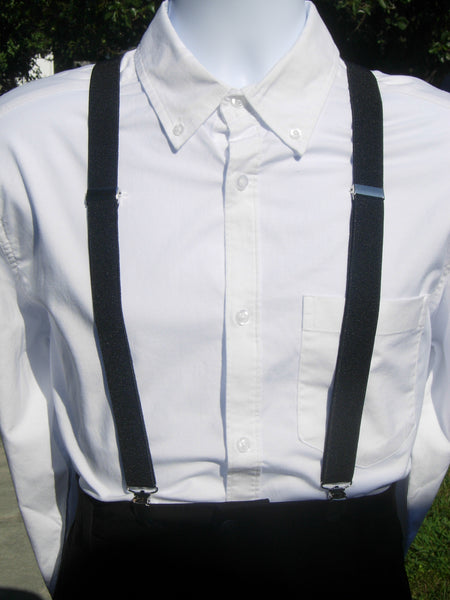 Black & White Check Bow Tie & Suspender Set - Black Suspenders - Mens MED/LG/XL, Boys SMALL - Bow Tie Expressions