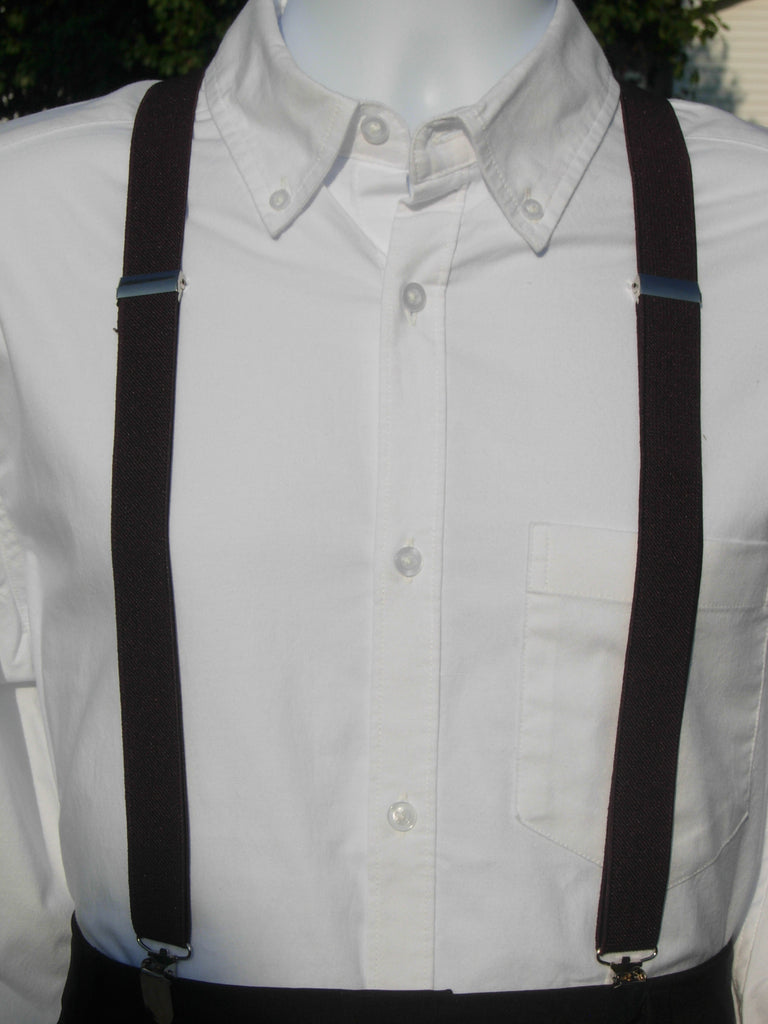 Brown Suspenders - Mens Suspenders - Teen Suspenders - Medium/Large - Bow Tie Expressions