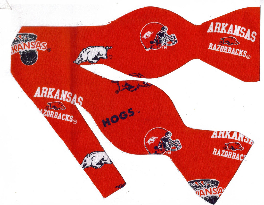 Arkansas Bow tie (Icons on Red) Razorbacks / College / Self-tie & Pre-tied Bow tie - Bow Tie Expressions
