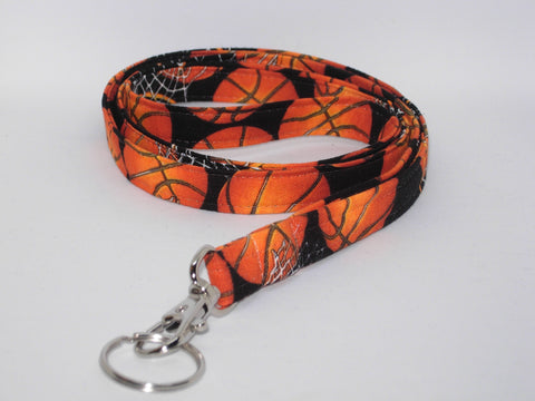 Basketball Lanyard / Basketballs & Hoops / Sports Key Chain, Key Fob, Cell Phone Wristlet - Bow Tie Expressions