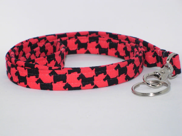 Scottie Lanyard / Black Scottish Terriers on Red / Veterinarian Lanyard / Key Chain, Key Fob, Cell Phone Wristlet