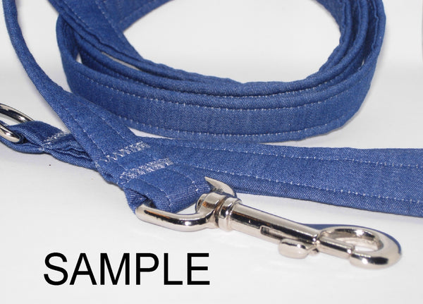 Add a Matching Dog Leash to Your Collar / Dog Lead / 4ft, 5ft, 6ft / Strong Grip with No Sharp Edges - Bow Tie Expressions