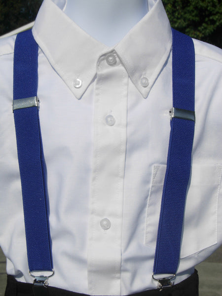 Blue Suspenders - Boys Suspenders - Ages 6mo. - 6yrs. - Bow Tie Expressions