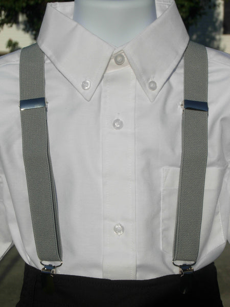 Dumbo Bow Tie & Suspender Set for Boys - Gray Suspenders - Bow Tie Expressions