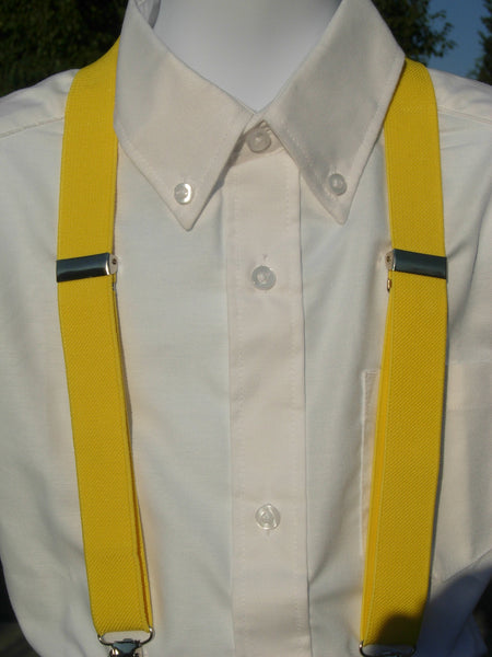 Yellow Suspenders - Mens Suspenders - Boys Suspenders - Small/Medium/Large - Bow Tie Expressions