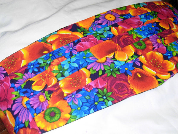 Paradise Bow Tie & Cummerbund Set / Bright Flowers / Self-tie or Pre-tied Bow tie - Bow Tie Expressions
