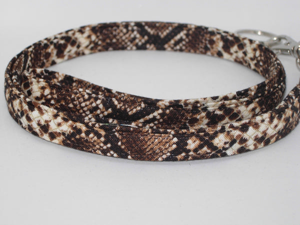 Snake Print Lanyard / Brown & Tan Snake Skin Print / Snake Key Chain, Key Fob, Cell Phone Wristlet - Bow Tie Expressions
