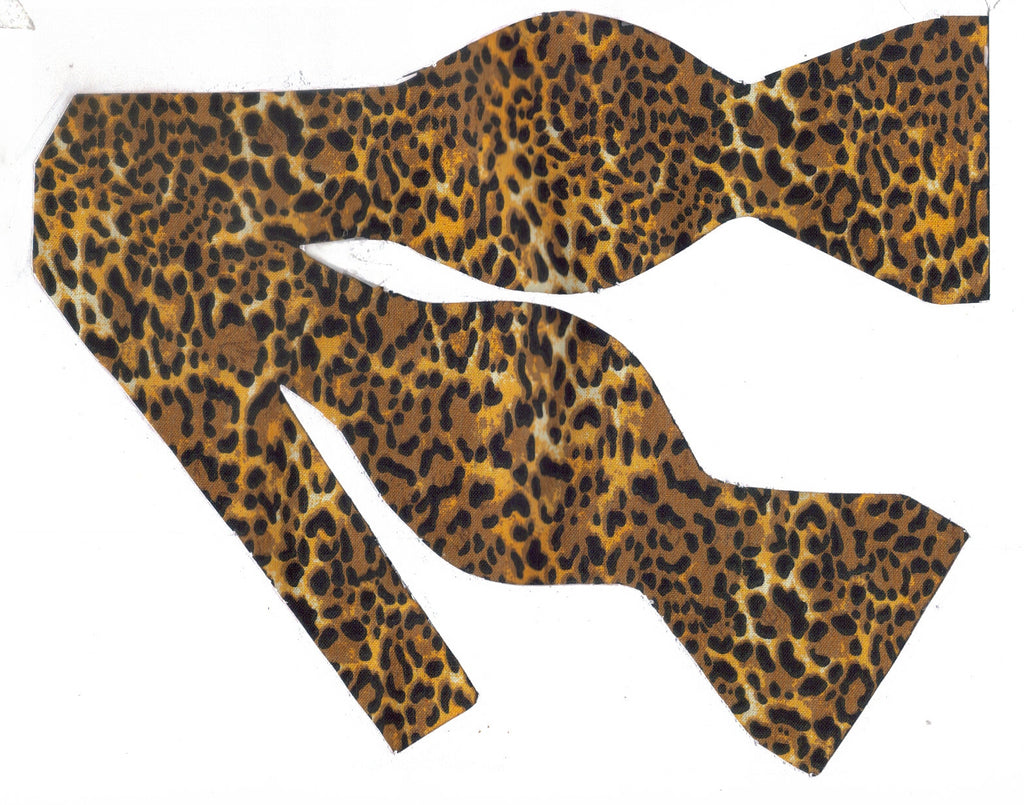 Cheetah Print Bow tie / Small Cheetah Spots on Brown & Tan / Self-tie & Pre-tied Bow tie - Bow Tie Expressions