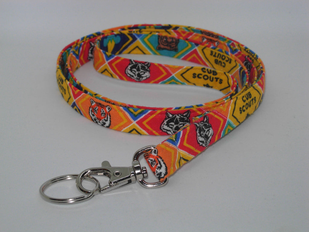 Cub Scout Lanyard / Pack Leader Lanyard / Scouting Key Chain, Key Fob, Cell Phone Wristlet - Bow Tie Expressions