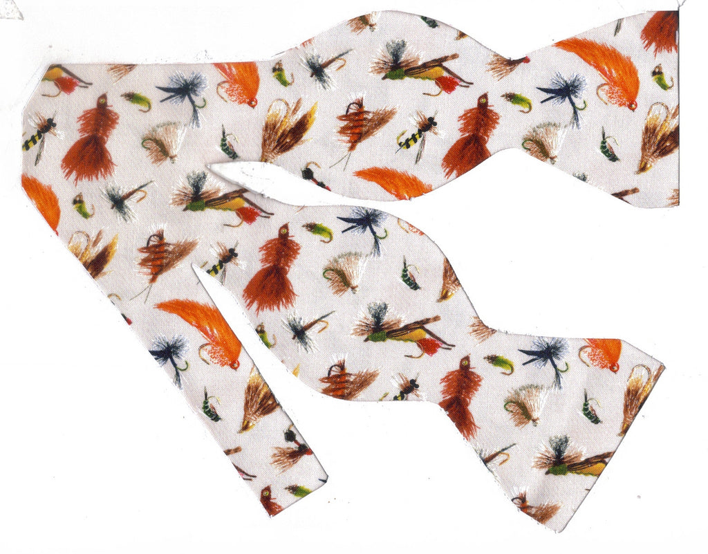 Fly Fishing Bow tie / Colorful Fly Fishing Flies / Self-tie & Pre-tied Bow tie - Bow Tie Expressions