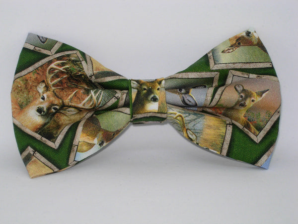 Wild Deer Bow tie / Framed Pictures of Deer / Trophy Hunter / Pre-tied Bow tie - Bow Tie Expressions