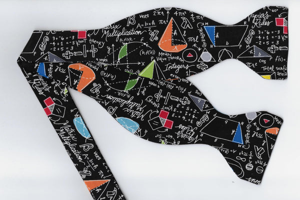 Geometry Class Bow tie / Math Equations & Colorful Shapes / High School / Self-tie & Pre-tied Bow tie - Bow Tie Expressions