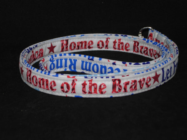 Proud American Lanyard / Let Freedom Ring / 4th of July / Military Key Chain, USA Key Fob, Cell Phone Wristlet - Bow Tie Expressions