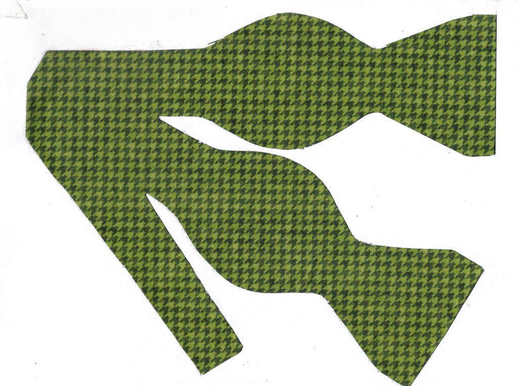 Houndstooth Bow tie / Light & Dark Green Houndstooth / Self-tie & Pre-tied Bow tie - Bow Tie Expressions