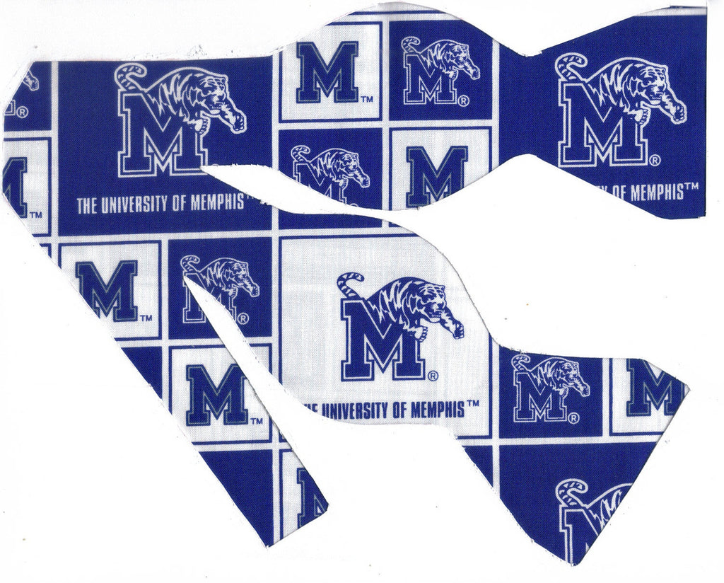 "MEMPHIS TIGERS ""POUNCER"" BOW TIE (BLOCKS) - Bow Tie Expressions"