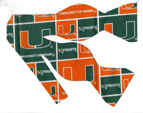 MIAMI HURRICANES BOW TIE (BLOCKS) - Bow Tie Expressions