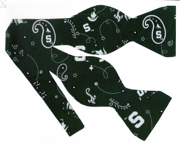 MICHIGAN STATE SPARTANS BOW TIE (BANDANA PAISLEY) - Bow Tie Expressions