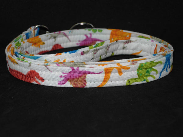 Dino Lanyard / Colorful Dinosaurs on White / Dino Key Chain, Key Fob, Cell Phone Wristlet