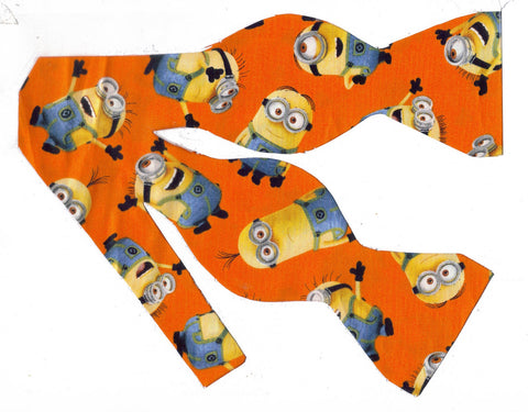 1 IN A MINION BOW TIE - DESPICABLE ME - POPULAR MINIONS TOSSED ON ORANGE - Bow Tie Expressions  - 1