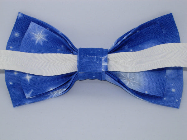 Christmas Bow tie / Nativity Stars on Evening Blue / Pre-tied Bow tie - Bow Tie Expressions