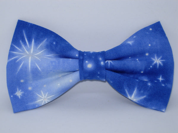 Christmas Bow tie / Nativity Stars on Evening Blue / Self-tie & Pre-tied Bow tie