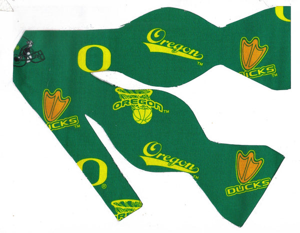 Oregon Ducks Bow tie (Icons) Green & Yellow / College / Self-tie & Pre-tied Bow tie