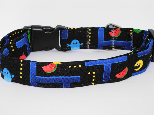 Pac Man Dog Collar / Classic Retro Video Game / Matching Dog Bow tie - Bow Tie Expressions