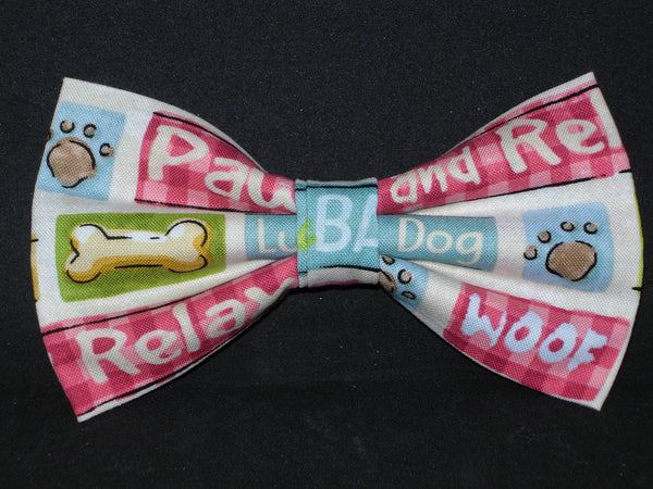 Pampered Pooch Bow tie / Pet Phrases / Pet Groomer / Veterinarian / Pre-tied Bow tie - Bow Tie Expressions