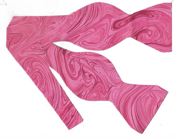 Pink Bow tie / Abstract Marble Design / Self-tie & Pre-tied Bow tie