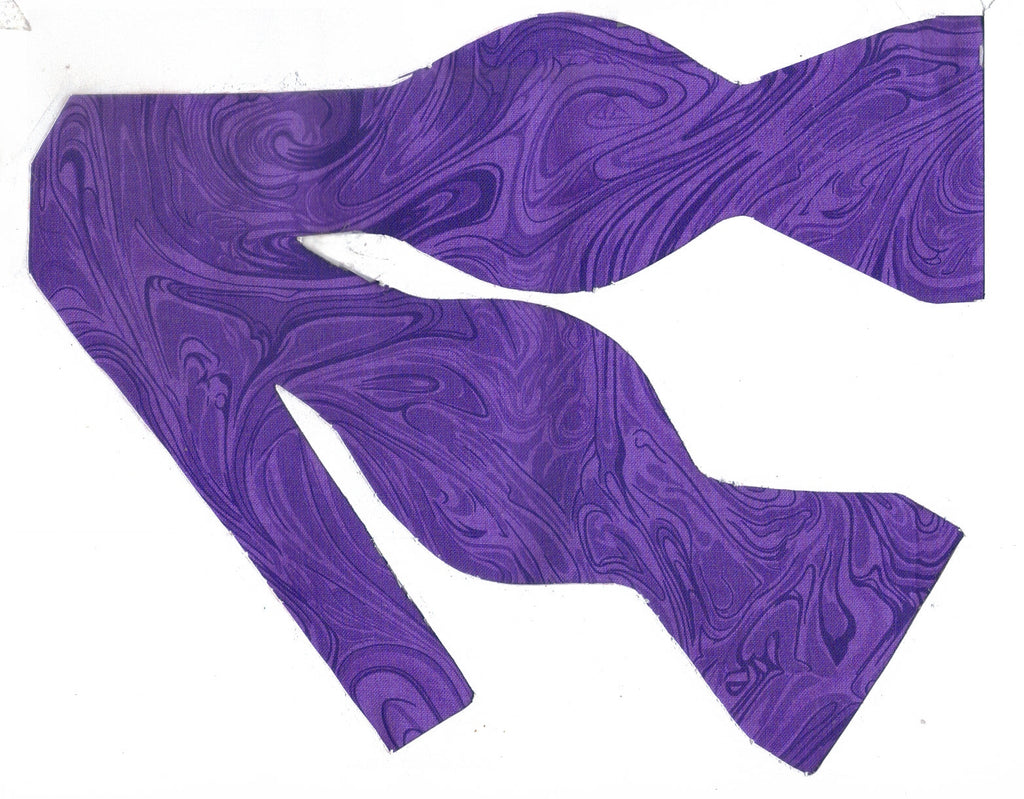 Purple Bow tie / Abstract Marble Design / Self-tie & Pre-tied Bow tie