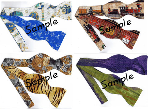 MIX & MATCH-CREATE YOUR OWN REVERSIBLE SELF-TIE BOW TIE