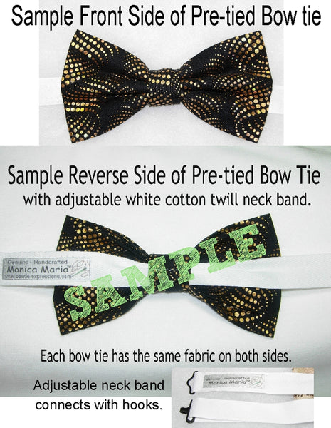 Comic Con Bow tie / Comic Book Action Words on Blue / Pre-tied Bow tie - Bow Tie Expressions