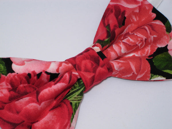 Rose Bouquet Bow tie / Pink & Red Roses / Wedding Bow tie / Self-tie & Pre-tied Bow tie - Bow Tie Expressions