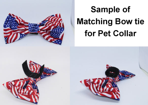Rescued Dog Collar / Cute Dogs on White / Matching Dog Bow tie - Bow Tie Expressions