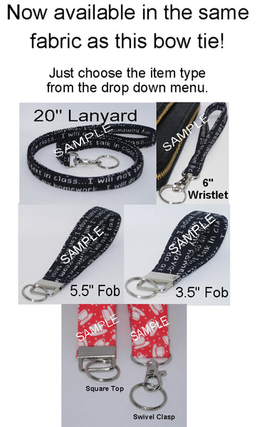 Music Lanyard / Neon Musical Notes on Black / Musician Key Chain, Key Fob, Cell Phone Wristlet