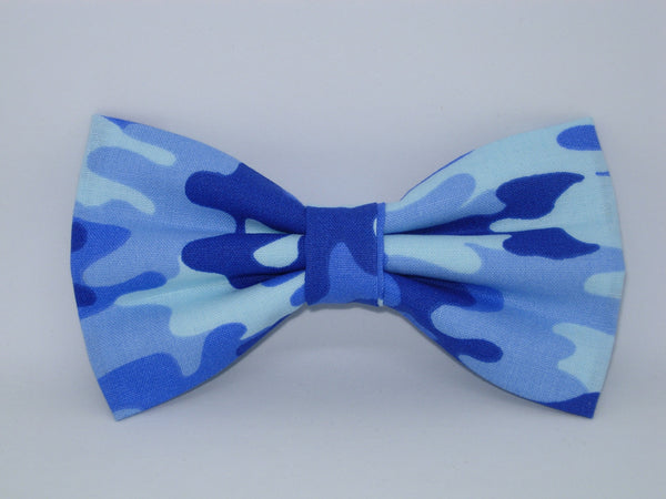 Blue Camo Bow tie / Shades of Blue Camouflage / Pre-tied Bow tie
