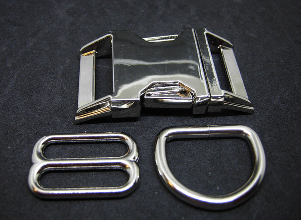 Upgrade to Metal Hardware for Pet Collar / Silver Metal Buckle / Bright Gold Buckle - Bow Tie Expressions