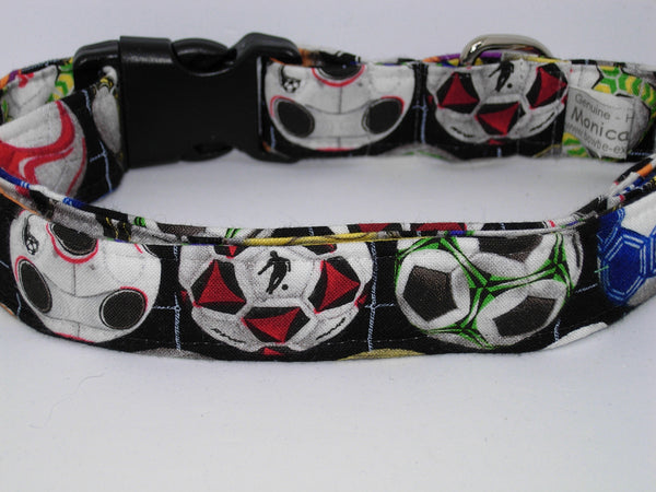 Soccer Dog Collar / Colorful Soccer Balls / Soccer Player's Pet / Matching Dog Bow tie - Bow Tie Expressions