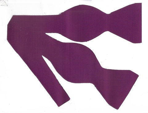 Dark Purple Bow tie / Byzantium Purple / Solid Color / Self-tie & Pre-tied Bow tie - Bow Tie Expressions