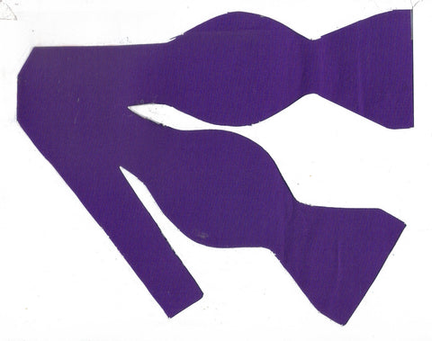 Purple Bow tie / Dark Purple / Solid Color / Self-tie & Pre-tied Bow tie - Bow Tie Expressions