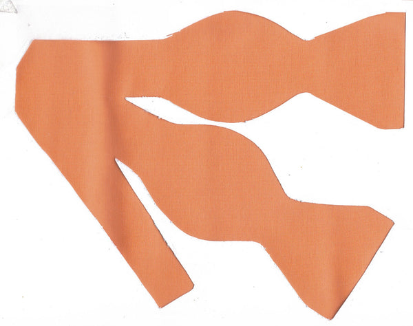 Orange Bow tie / Mango Orange / Solid Color / Self-tie & Pre-tied Bow tie - Bow Tie Expressions